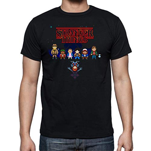 Camiseta de Hombre Stranger Things Once Series Retro 80 Eleven Will 014 S