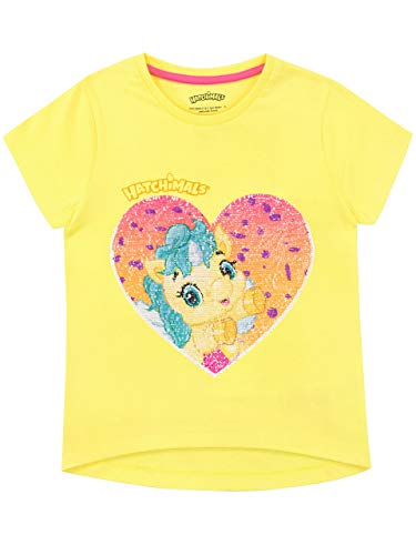 Hatchimals Camiseta de Manga Corta para niñas Unicornio Multicolor 5-6 Años