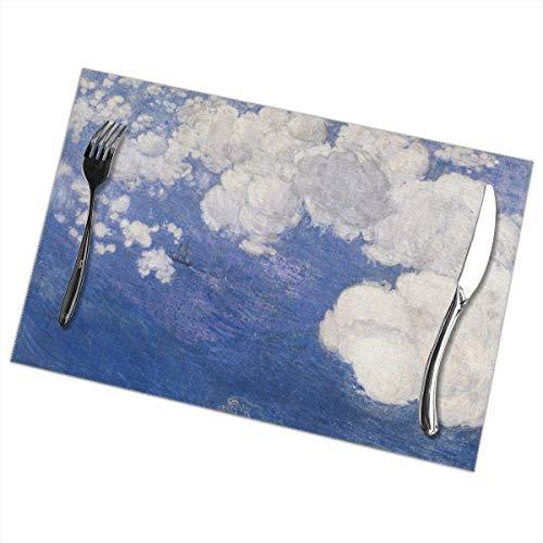 Asa Dutt528251 Sky Cloud Placemats Plate Mats Tapetes de Mesa 30X45CM para Mesa de Comedor Juego de 6