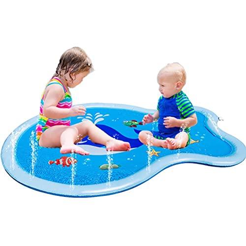 Doherty Alfombrilla para rociadores para niños, de PVC, para verano, para actividades infantiles, juguetes de agua