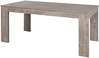 Tousmesmeubles Table de Repas Longueur Gris fumé 185 cm - JACCO - L 185 x l 92 x H 75 - Neuf
