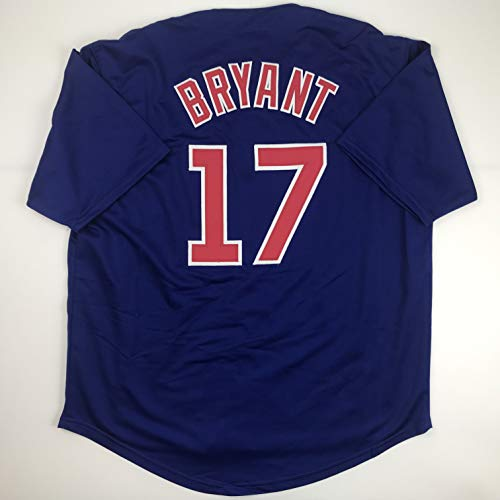 Unsigned Kris Bryant Chicago Blue Custom Stitched Baseball Jersey Size Men's XL New No Brands/Logos
