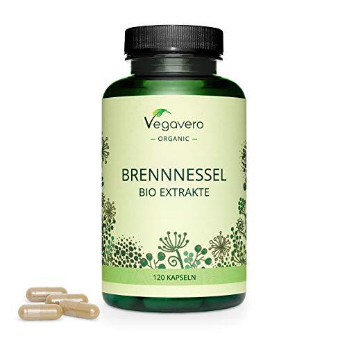 Ortiga Verde BIO Vegavero | La Dosis Más Alta: 3600 mg | Diurético Natural | Extracto de Raíz & Hojas (4:1) | Sin Aditivos | Libre de OMG & Apto para Veganos | 120 Cápsulas