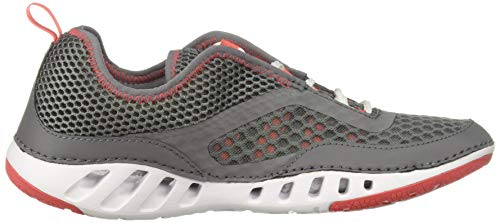 Product Image 6: Columbia Men's Drainmaker 3D Boat Shoe, ti Grey Steel, red Coral, 7.5