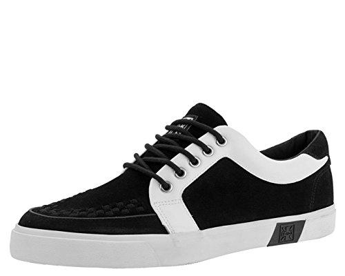 T.U.K. Shoes A9237 Unisex-Adult Sneakers, Black & White No-Ring VLK Sneaker - US: Men 11 / Women 13