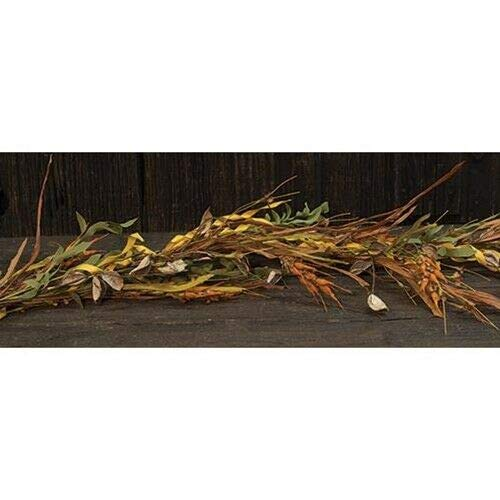 MIABE Floral Supplies for New Wheat Grass Garland Leaves Plant Artificial Flower Fall Autumn 4 ft. Long for Home Decor, Holiday Decor