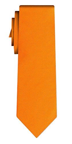 Cravate unie solid orange twill texture/teflon