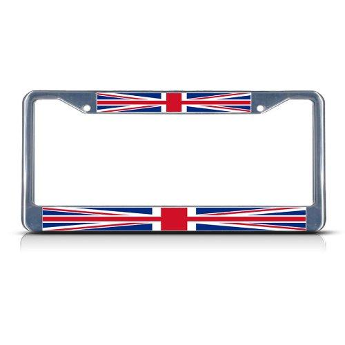 Fastasticdeals British Flag United Kingdom License Plate Frame Tag Holder Cover