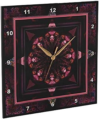 3dRose DPP_24842_2 Mandala 10 Chakra Purple Pink Black Flower Power Hippie India Orient Oriental Meditate Peace Harmony-Wall