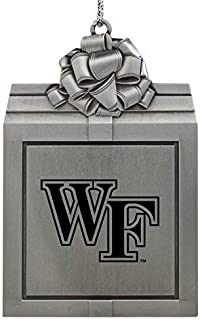 Wake Forest University -Pewter Christmas Holiday Present Ornament-Silver