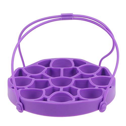 UPKOCH silikon eierständer silikon dampferständer mit Griff eierhalter für schnellkochtopf lila