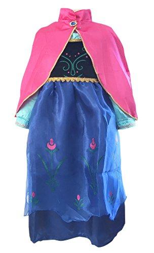 La Senorita Anna Frozen kostuum jurk prinses Cape roze Frozen ketting gratis