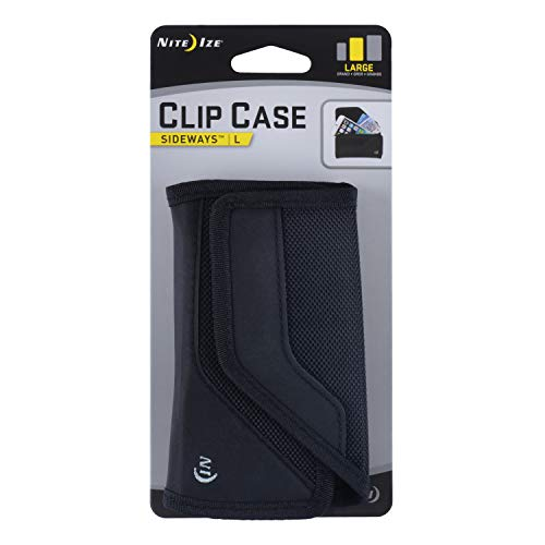 Nite Ize Clip Case Sideways Phone Holster - Protective, Clippable Phone Holder For Your Belt Or Waistband - Large - Black