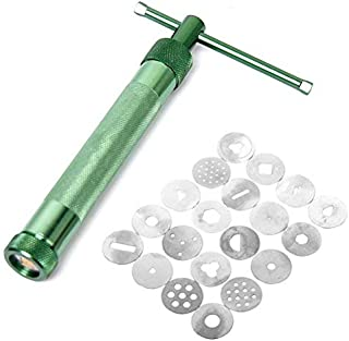 Zealite Clay Extruder Clay Gun Tool with 20 Discs (Green) forcook books best sellers 2019