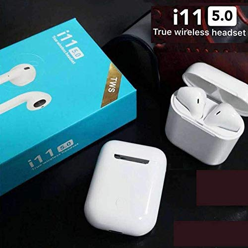 Stufftail i11 TWS 5.0 Wireless Earphone with Portable Charging Case Supporting All Smart Phones and Android Phones with Sensor