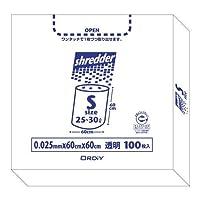 シュレッダーの切りくずを入れる専用のポリ袋です。 オルディ ポリバックシュレッダー用ボックスS 透明100P×5箱 511201 〈簡易梱包