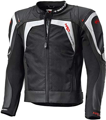Held Hashiro Motorradtourenjacke Leder, Farbe schwarz-Weiss, Größe 50