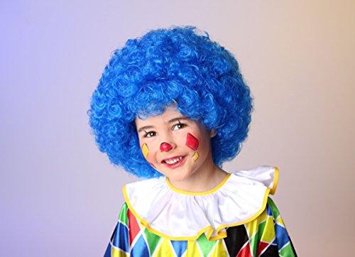 Perruque de cheveux des enfants dans un sac, bleu