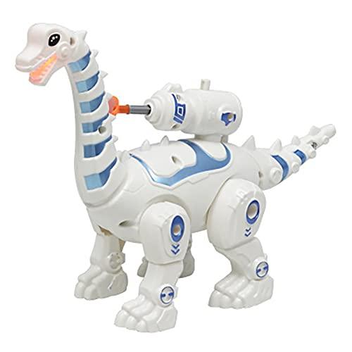 ELKeyko Control Remoto Inteligente Caminando Puzzle Niños Niños Niños Regalo Robot Inteligente Dinosaurio Juguete (Color : A)