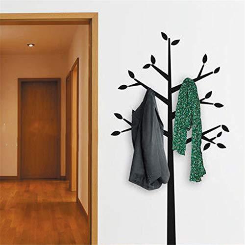 etiqueta de la pared Perchero Ramas de los árboles altos Hoja Home Mural ation Organizador del dormitorio sala de estar dormitorio de los niños