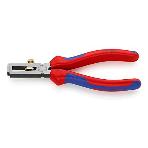 KNIPEX 11 02 160 Abisolierzange schwarz atramentiert mit Mehrkomponenten-Hüllen 160 mm