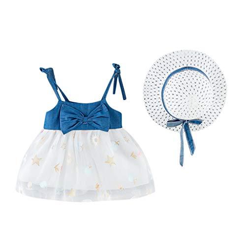 Vestito Neonata Battesimo + Cappello Abiti Bimba Estivi Vestiti Damigella Bambina Abito Bambini Elegante