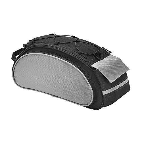 Lesrly-Cycle Mountain Bike Rear Shelf Bag, Unique Shoulder Bag, Riding Gear Rear Bag, Suitable for Most Mountain/Road/Commuter Bikes,Black