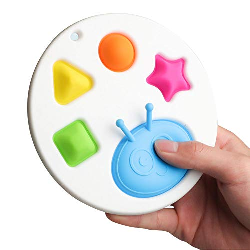 Shulcom Simple Dimple Circle Fidget Toy Fat Brain Toy, Baby Sensory Toys & Gifts for Ages 6 Months and Up, Early Education Stress Relief Hand Toys for Kids/Anxiety Autism
