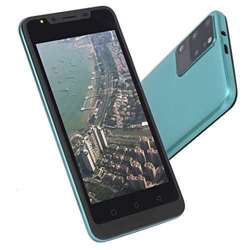 CUYT Smartphone Desbloqueado, 512MB+4GB 960x480 5.0in HD Pantalla Completa Dual SIM 128GB Expansión Teléfono Móvil Android WiFi/BT/FM/GPS/USB App Huellas Dactilares Face ID Teléfonos Celulares(Verde)
