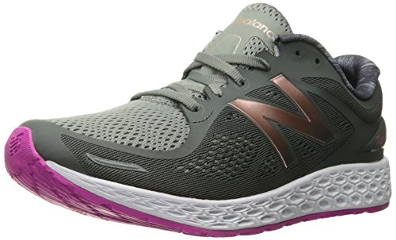 プロット仮称赤外線New Balance Women's Fresh Foam Zante v2 Running Shoe Grey/Pink 5 B US [並行輸入品]