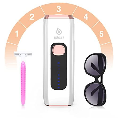 iBesi IPL Geräte Haarentfernung, 999,999 Lichtimpulse Blitze Dauerhafte Haarentfernungsgerät für Frauen und Männer, Permanente Schmerzloses Haarlaser Entferner, Hautverjüngung, Akne verbessern