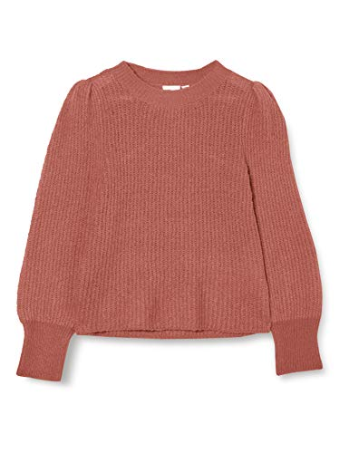 NAME IT Mädchen NKFTAMILA LS Knit Camp Pullover, Withered Rose, 134-140
