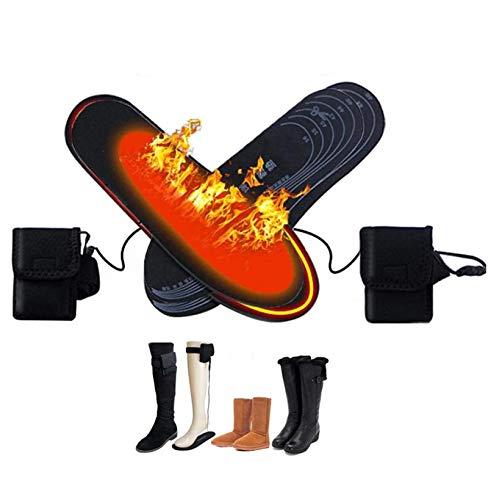 Plantilla calefactora recargable para hombres y mujeres, calentador de pies, suela calefactora...