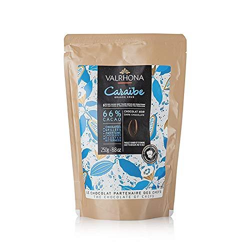 Valrhona Caraibe, Bitterschokolade 66%, Callets, 250 g