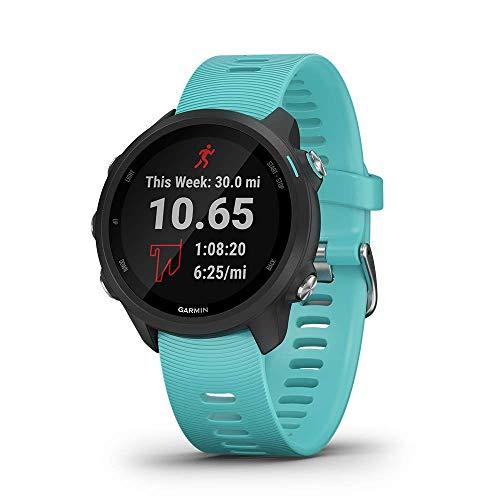 Garmin Forerunner 245 Music, GPS Running Smartwatch with Music and Advanced Dynamics, Aqua (Renewed)