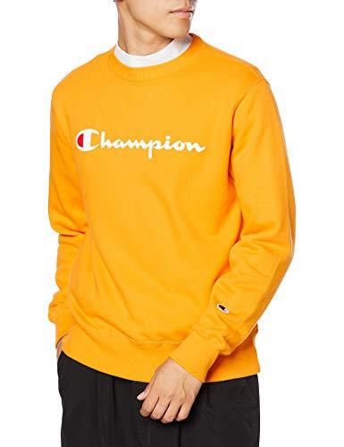 [チャンピオン] トレーナー 長袖 裏毛 綿100% 定番 クルーネック スクリプトロゴプリント クルーネックスウェットシャツ C3-Q002 メンズ イエロー L