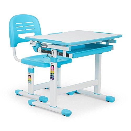 oneConcept Tommi Juego Escritorio Infantil • Mesa y Silla • Azul