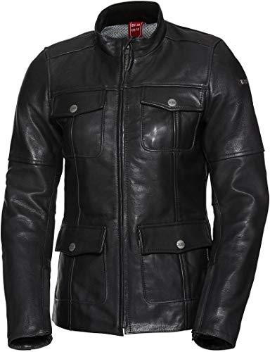 IXS Classic LD Josy - Chaqueta de piel para moto, color negro, talla 42