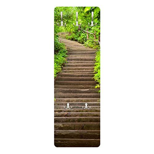 Bilderwelten Perchero Panel Mural Armario del Vestíbulo   Stair Climb In The Woods 139 x 46cm