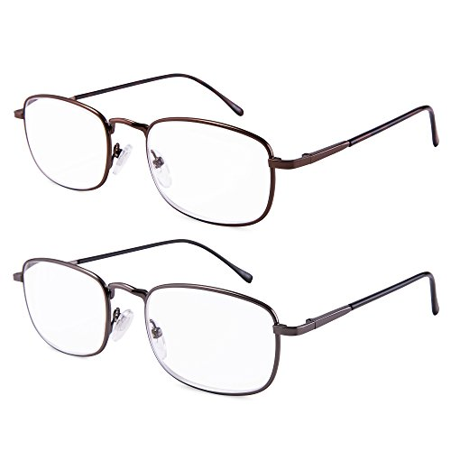 EYEGUARD High Magnification Power 2 Pairs Spring Hinge Reading Glasses Ultra Clear Men & Women Reader(+4.50+5.00 +5.50+6.00)