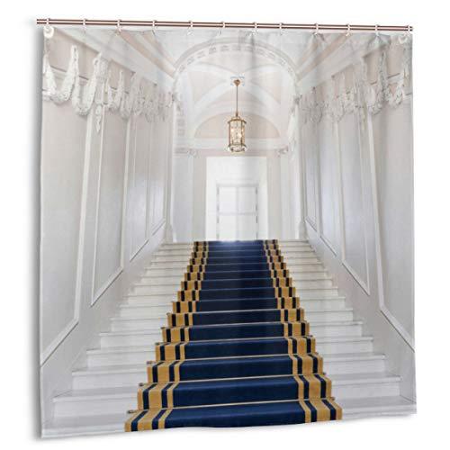 DIYAB Luz Imperio Estilo Pasillo con una Alfombra en Las escaleras, Cortina de Ducha decoración del hogar