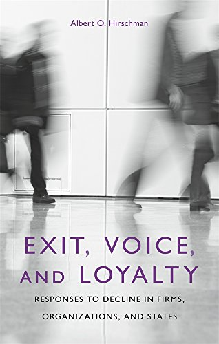 Exit, Voice, and Loyalty: Responses to Decline in Firms, Organizations, and Statesの詳細を見る