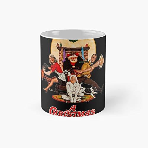 Taza clsica con diseo de historia de Navidad | El mejor regalo divertidas tazas de caf de 325 ml