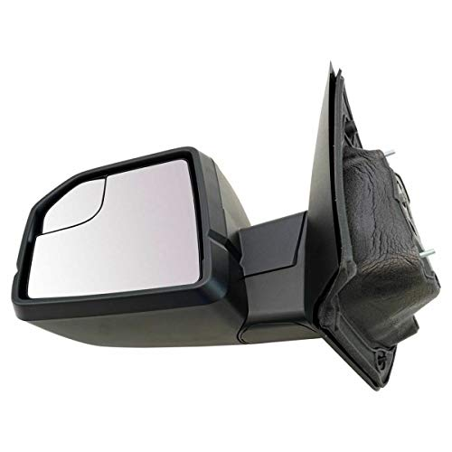 Mirror Power Textured Black Driver Side Left LH Compatible with Ford F150 New