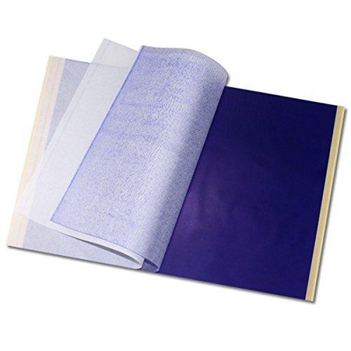 EZI 25 Blatt Profi A4 Carbon Tattoo Matritzenpapier Pauspapier Transferpapier Schablone Selberdrucken # DE7603810