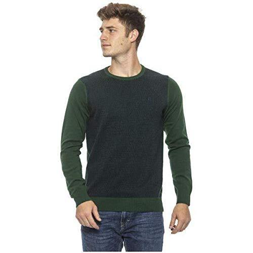 CONTE OF FLORENCE Alessandro 0485XK - Jersey de lana para hombre con cuello redondo y manga larga...