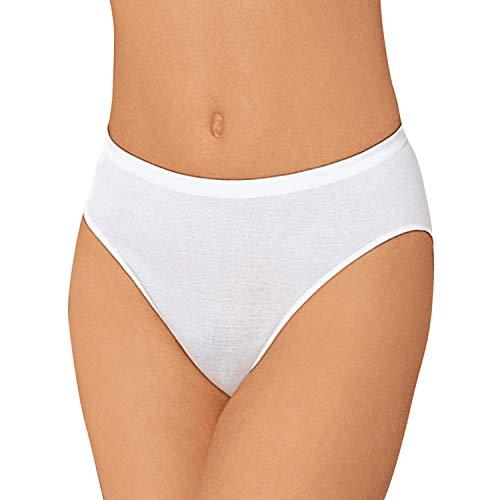 Nina von C. 3er Pack Jazzpants aus 100% Baumwolle in Weiß I Slips Damen Gr. 42 I Damen Slips Multipack I Unterhosen Damen I Frauen Unterhosen I Damenslip I Baumwoll Unterhosen
