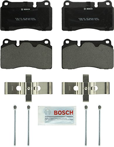 Bosch BP1129 QuietCast Premium Semi-Metallic Disc Brake Pad Set For Select Chevrolet Corvette; Ferrari California; Volkswagen Touareg; Front & Rear