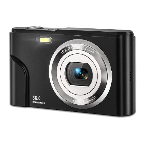デジカメ MELCAM デジタル カメラ コンパクト HD1080P 16倍デジタルズーム 2.44インチIPS画面 軽量 ポケットカメラ キッズ 学生 子供 初心者に適用 予備バッテリ*2 日本語取扱説明書き