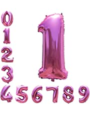 Pink Number Balloons 40inch Helium Birthday Balloons Foil Mylar Digital Balloons for Birthday Engagement Wedding Bridal Shower Anniversary of 2019 BALLOON (1)